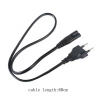2A 250V EU Regulatory Power Wire Cord Cable 60cm Length