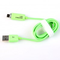 USB Cable LED Light Data Cable Luminous Micro USB Charger Sync Green