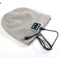 Wireless Bluetooth Soft Warm Beanie Hat Smart Cap Headset Headphones Speaker NEW