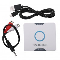 HDMI to VGA RGB HDTV Converter Adapter Cable for PS3 PS4 XBOX 360 TV HDTV