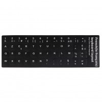 1pc Black French Keyboard Layout Stickers Cover Protector For PC Laptop