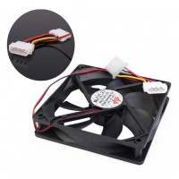 1pcs 120mm 12V 4Pin DC Computer Processor Cooling Fan 120x120x25mm 12cm 12025S