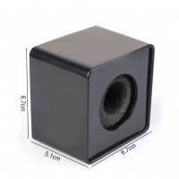 ABS 39mm Hole TV Mic Microphone Interview Square Cube Logo Flag Station