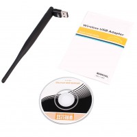 5GHz Dual Band WiFi USB Wireless Adapter 5dBi Antenna 802.11ac 433M AC600 2.4GH