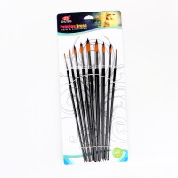 Artists Paint Brush Set Watercolor Acrylic Brush Round Pointed Tip Nylon Hair
