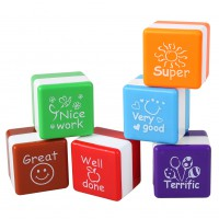 6X SchoolTeachers Stampers Self Inking Praise Reward Stamps Motivation Sticker