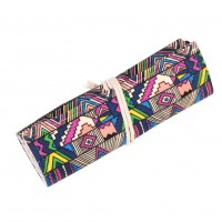 ​Retro National Wind Simple Roll Pen Pencil Curtain Canvas Wrap Sketch Holder