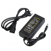 12V 6A EU Regulation DC Power Adapter  AC 100-240V 50 / 60Hz 5.5mm DC Head