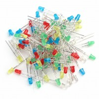 100pcs 3mm LED Light White Yellow Red Green Blue Assorted Kit DIY LEDs Set