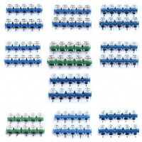 100pcs Horizontal Resistors Blue green  White Adjustable 10 kinds Each 10