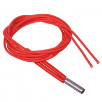 100cm Stainless Steel Red Plastic Ceramic Cartridge Wire Heater For 3D Printer