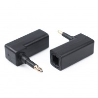 2pcs 90° Digital Optical TOSLink To 3.5mm Fiber Optic Digital Audio Cable Adapte