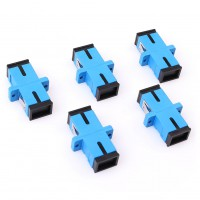 5pcs SC-SC Single Fiber Optical Optic Simplex Connector Flange Adapter Newest
