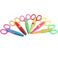 6pcs Creative Craft Border Sewing Scissors Scallop Wavy Pinking Paper Shears