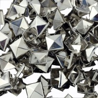 100PCS DIY Metal Craft Pyramid Studs Silver Leathercraft Spikes Spots