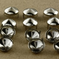 10 mm Silver Round Cone Studs Rivets Spikes Punk Bag Belt Leathercraft DIY 200Pcs/Lot