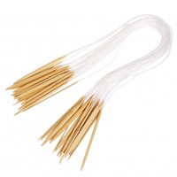 18 Sizes Bamboo Knitting Hooks Bamboo Knitting Circular Needles Craft Tool Set