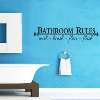 Removable Room Art DIY Wall Sticker Mural Home Decal Decor For Bathroom