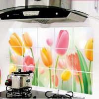 New  Tulip WallSticker Kitchen Wall Stickers Home Decoration Vinyl Art