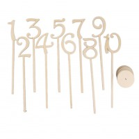 Numbers 1-10 Wooden Table Number Wedding Supplies Ornaments Ornaments Digital