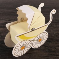 10pcs/pack Carriage Candy Box Boxes For Wedding Party Baby Shower Favor Gift