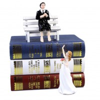 New Romantic Funny Wedding Cake Topper Figure Bride & Groom Couple Bridal Decor