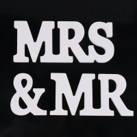 Mr & Mrs Wedding Sign wedding decoration MR& MRS letters Wooden White