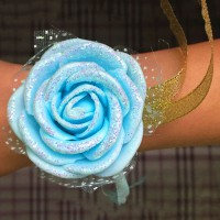 New Beautiful Wedding Bride Bridesmaids Foam Sands Hand Wrist Flower 5 Colors