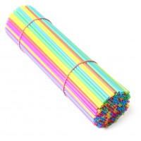 "200pcs 10"" Plastic Balloon Multicolor Holder Sticks Cup Wedding Party Decoration"