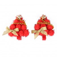 1 pair Christmas Tree Style Hairclip Children Girls Hair Clip Headwear Hair Acce