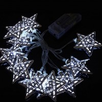 1.2M 10 LED Light String Christmas Xmas Star Shape Fairy String Light Decor