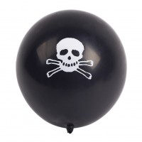 100 Black Balloons Halloween Party Skull Balloon Decoration Room Ornaments New