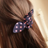 10 Pcs/lot  Mini Rabbit Ears Headband Hair Rope Rubber Bands hair Accessories