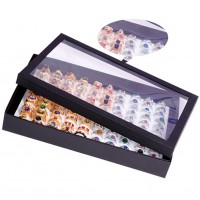 100 Slots Ring Ear Pin Clear Display Box Jewelry Organizer Holder Storage Case