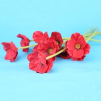 10 pcs Mini Touch PU Artificial Flower Decorative For Holiday Home Party Decor