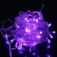 10m 100pcs Outdoor LED Light String Lights-EU Purple Christmas Xmas Decoration
