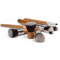 11Pcs Wood Cosmetic Tools Set Eyeshadow Foundation Concealer Makeup Brushes