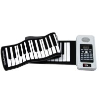 61 Keys Professional Silicon Flexible Roll Up Electronic Piano Keyboard White
