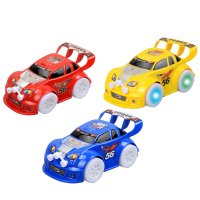 Children Toy Universal Wheel Car With Music and Light Colorful Random Color
