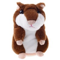 Creative Toys Talking Hamster Pet Electronic Speak Record Plush Baby Chocolate