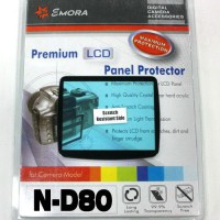 Emora Premium LCD Screen Panel Protector for Nikon D80